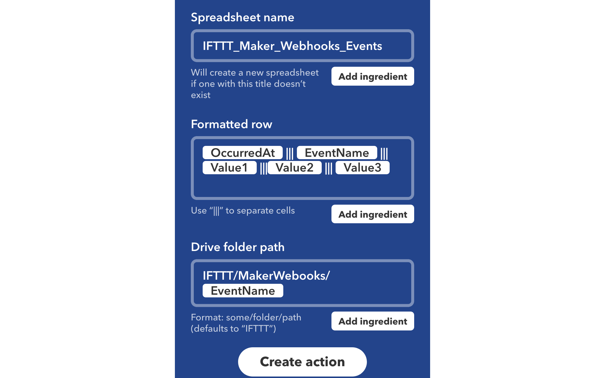 Working Example of Applets and Triggers — collective ifttt documentation